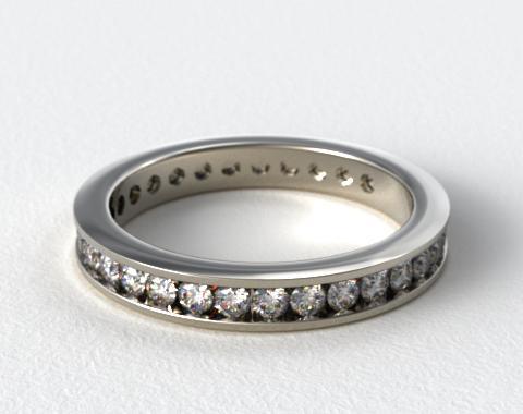 Ladies 0.75ctw* Milgrain Channel Set Diamond Eternity Ring