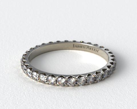 Ladies 0.75ctw* Angled Common Prong Diamond Eternity Ring