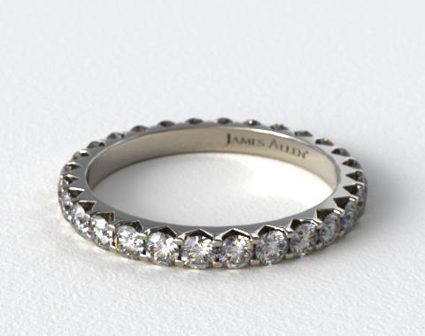 Ladies 1.00ctw* Angled Common Prong Diamond Eternity Ring