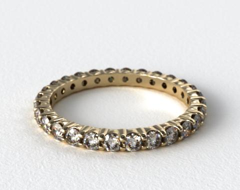 Ladies 1.00ctw* Contoured Common Prong Diamond Eternity Ring