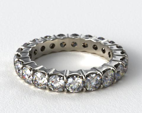 Ladies 2.00ctw* Contoured Common Prong Diamond Eternity Ring