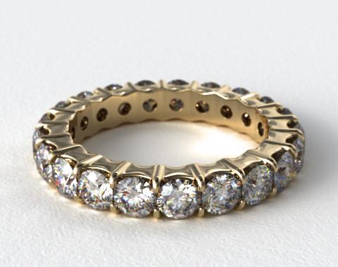 Ladies 2.00ctw* Contoured Common Prong Diamond Eternity Ring