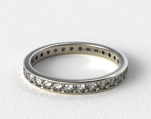 Platinum 0.61ct Pave Diamond Eternity Band
