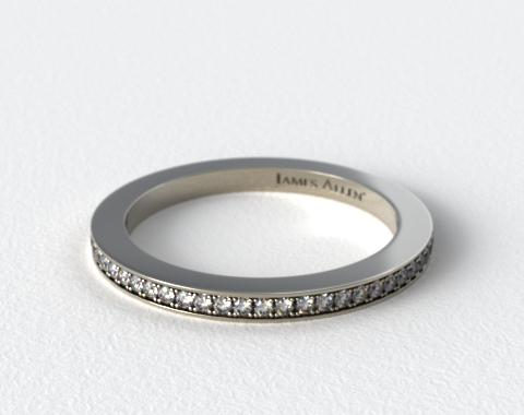 Platinum 1.5mm, 58 stone, 0.38ctw Matching Pave Eternity Band