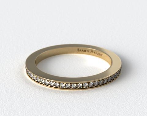18K Yellow Gold 1.5mm, 58 stone, 0.38ctw Matching Pave Eternity Band