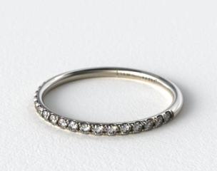 14K White Gold 1.5mm, 23 Stone, 0.16ctw Matching Pave Wedding Band