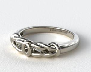 18K White Gold Love Knot Wedding Ring