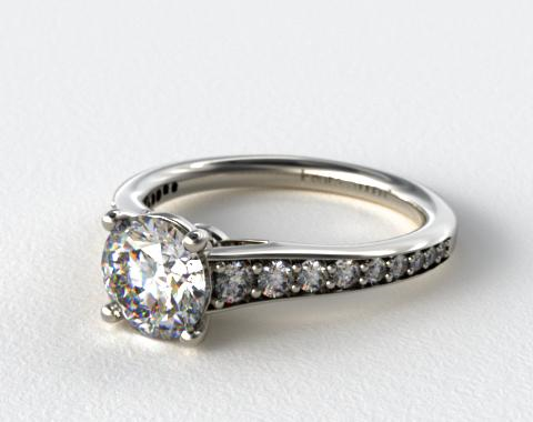 18K White Gold Inspired Diamond Engagement Ring