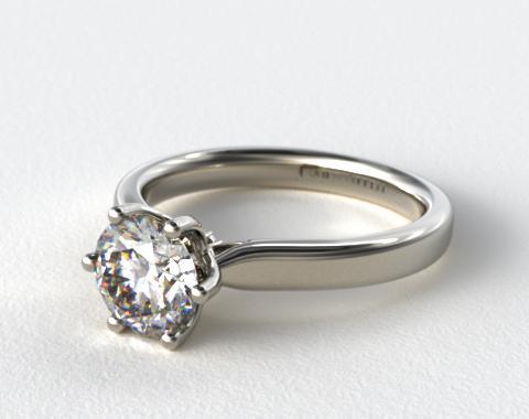 14K White Gold Intricate Basket Engagement Ring