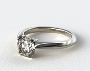 14K White Gold Double Prong Solitaire