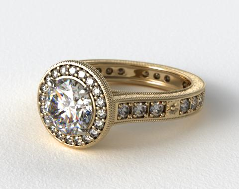 18K Yellow Gold James Allen Exclusive Engagement Ring