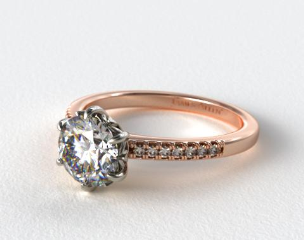14K Rose Gold James Allen Exclusive Engagement Ring