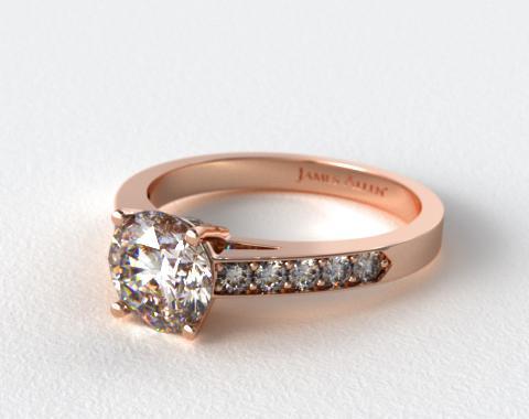 14K Rose Gold Pave Set Surprise Diamond Engagement Ring