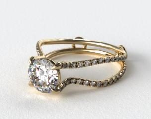 14K Yellow Gold ZE122 by Danhov Designer Engagement Ring