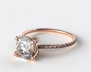 14K Rose Gold Twist Pave ZE102 by Danhov Designer Engagement Ring