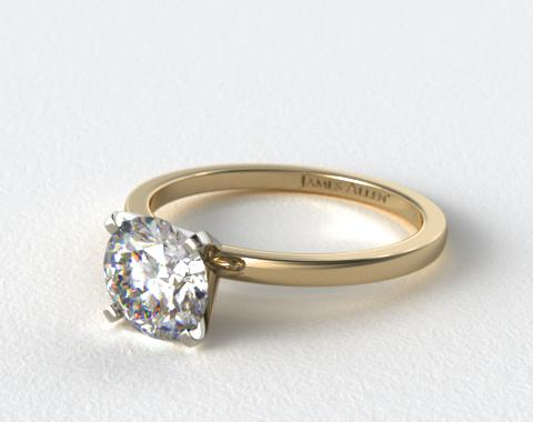 18k Yellow Gold 1.5mm Comfort Fit Engagement Ring