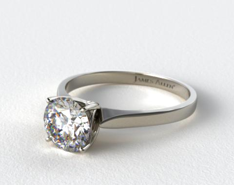 Platinum Four Prong Cathedral Arch Engagement Ring