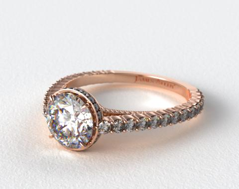 14K Rose Gold Pave Basket XE110 by Danhov Designer Engagement Ring
