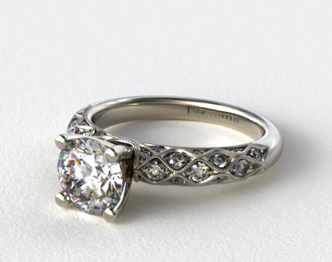 Platinum Pave Encrusted Engagement Ring