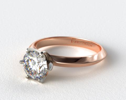 14K Rose Gold Presentation Solitaire (Six Prong)