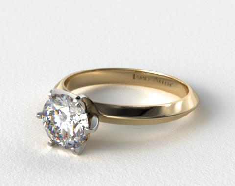 14K Yellow Gold Presentation Solitaire (Six Prong)