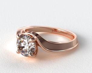14K Rose Gold Regal Bypass Engagement Ring