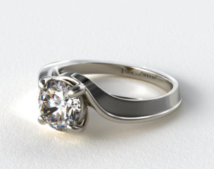 Platinum Bypass Engagement Ring