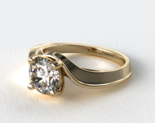 14K Yellow Gold Regal Bypass Engagement Ring