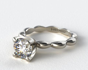 Platinum Seeds of Nature Engagement Ring