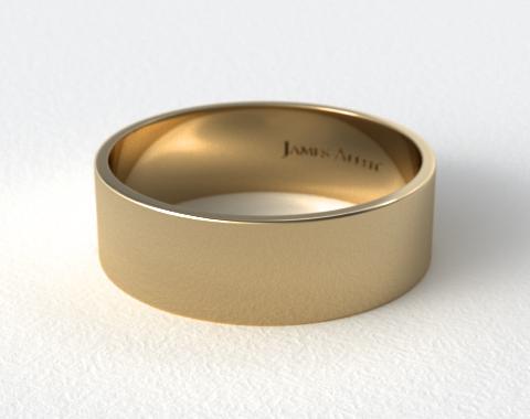 14K Yellow Gold 8.0mm Flat Comfort Fit Wedding Ring