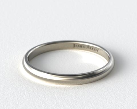 14K White Gold 3.0mm Low Dome Wedding Ring