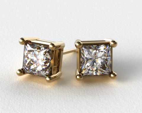 18k Yellow Gold 1/4ctw Asscher Shaped Settings