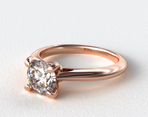 14K Rose Gold Double Bevel Knife Edge Engagement Ring