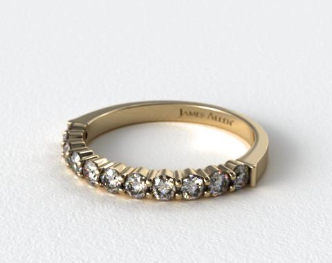 18K Yellow Gold 0.50ct Common Prong Diamond Wedding Ring