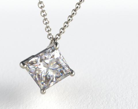 18k White Gold 0.75ct Diamond Pendant