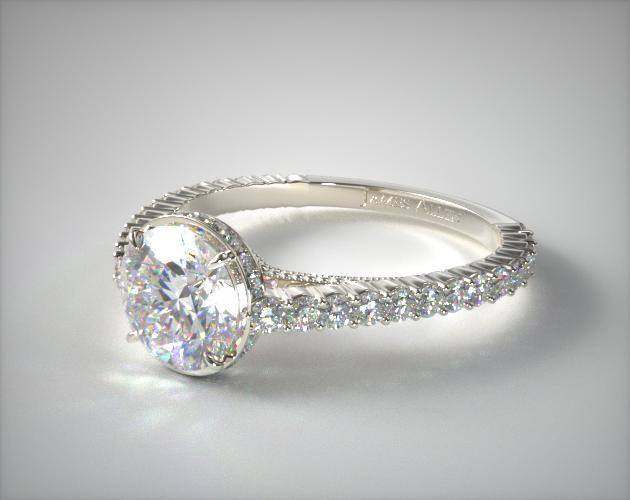 Platinum Pave Basket XE110 by Danhov Designer Engagement Ring