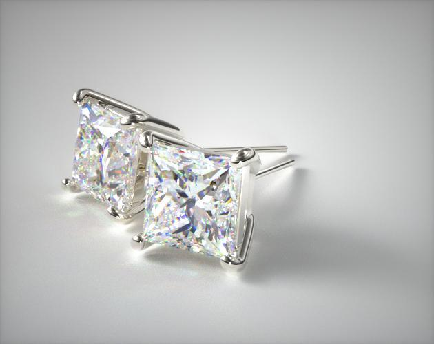 Platinum 0.50ctw Diamond Stud Earrings