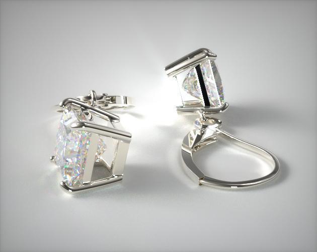 18k White Gold 0.50ctw Diamond Leverback Dangle Earrings
