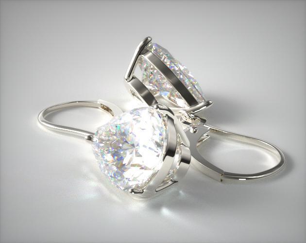 18k White Gold 1.00ctw Diamond Leverback Dangle Earrings