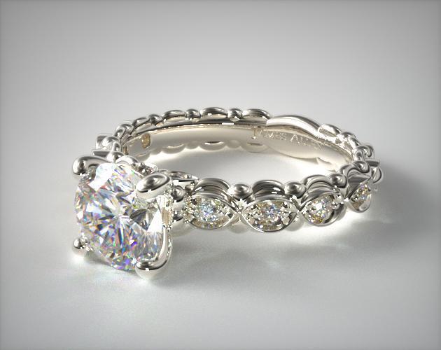 Platinum Pave Undergallery Engagement Ring