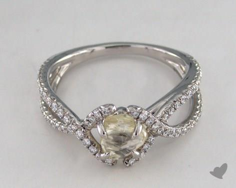 "Platinum 1.05ct diamond ""Unity ring"" featuring 0.38ctw in MicroPave diamonds"