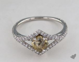 "Platinum 1.02ct diamond ""Victorian ring"" featuring 0.39ctw in MicroPave diamonds"