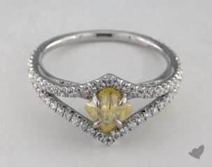 "Platinum 1.17ct diamond ""Victorian ring"" featuring 0.45ctw in MicroPave diamonds"