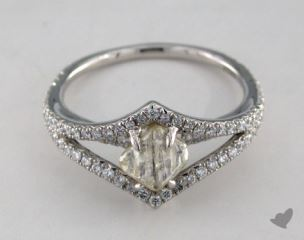 "Platinum 1.24ct diamond ""Victorian ring"" featuring 0.42ctw in MicroPave diamonds"
