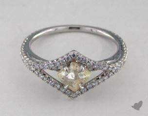 "Platinum 0.96ct diamond ""Victorian ring"" featuring 0.33ctw in MicroPave diamonds"