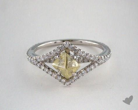 "Platinum 1.11ct diamond ""Victorian ring"" featuring 0.40ctw in MicroPave diamonds"
