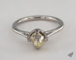 "Platinum 1.06ct diamond ""Signature ring"" featuring 0.12ctw in MicroPave diamonds"