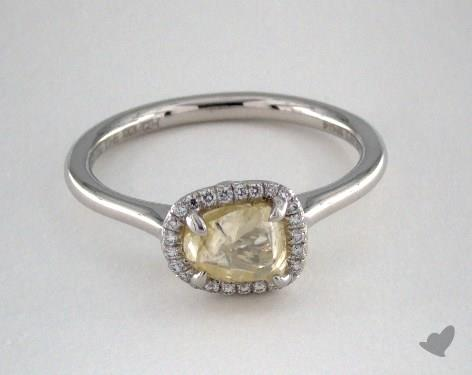 "Platinum 1.09ct diamond ""Grace ring"" featuring 0.09ctw in MicroPave diamonds"
