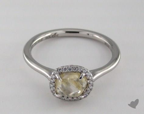 "Platinum 1.64ct diamond ""Grace ring"" featuring 0.09ctw in MicroPave diamonds"