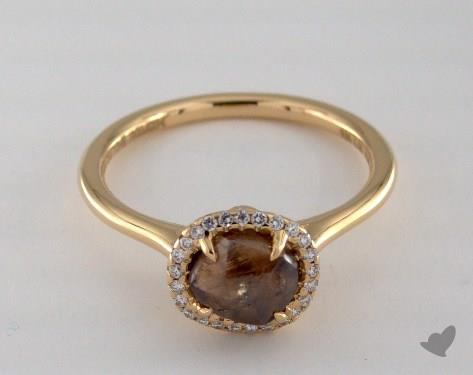 "18K Yellow Gold 1.88ct diamond ""Grace ring"" featuring 0.08ctw in MicroPave diamonds"